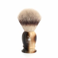 Shaving brush from MÜHLE, Silvertip Fibre®, handle material high-grade resin horn brown